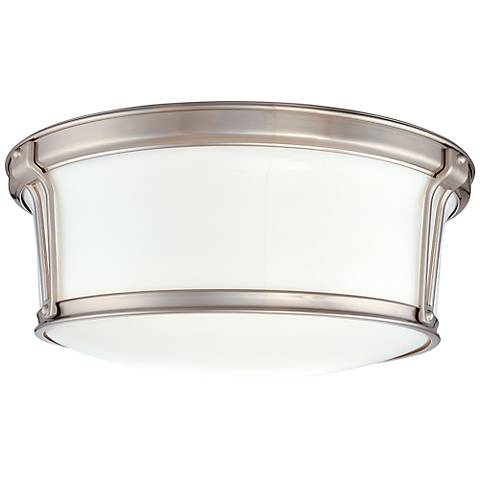 "Hudson Valley Newport 13"" Wide Satin Nickel Ceiling Light"