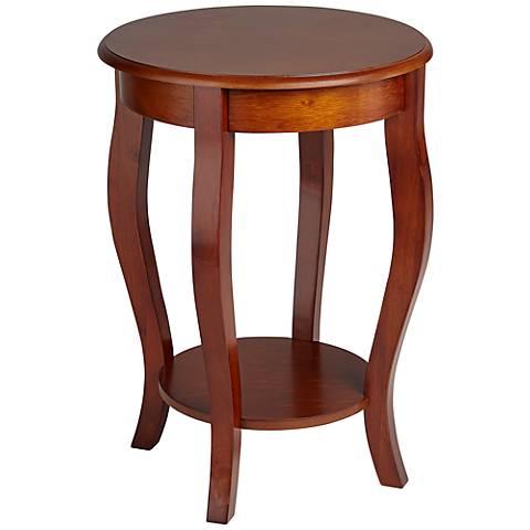 Peyton Round Cherry Accent Table