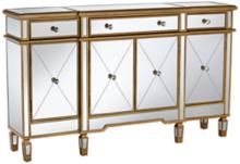 Bailey Gold and Mirror Console