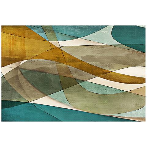"""Abstract Purposeful Blue Canvas 20"""" Wide Giclee Wall art"""