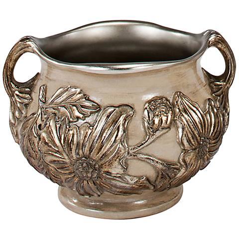 Portnoy Floral Silver Centerpiece Bowl