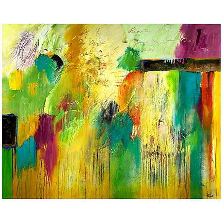 """Fresh Spring Acts Canvas 20"""" Wide Abstract Wall Art"""