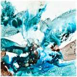 """Abstract Blue II Canvas 20"""" Square Contemporary Wall Art"""