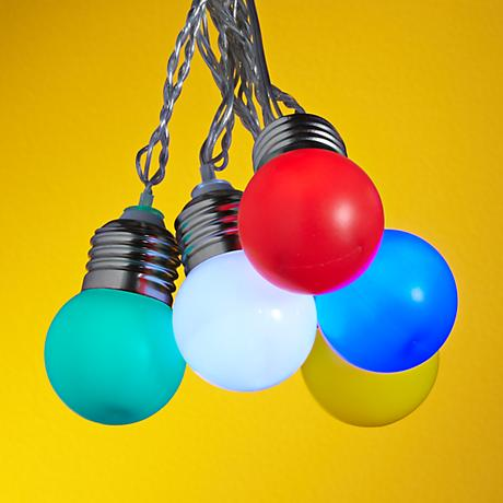 String Lights Lamps Plus : Mini Color Globes 10-Light LED String Party Lights - #4N004 Lamps Plus