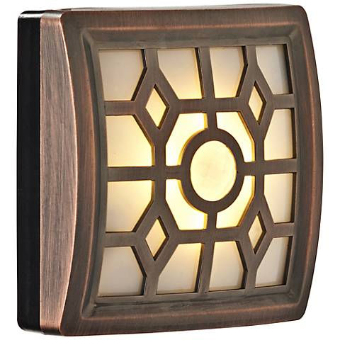 Fulcrum Soft Glow LED Bronze Sensor Night Light