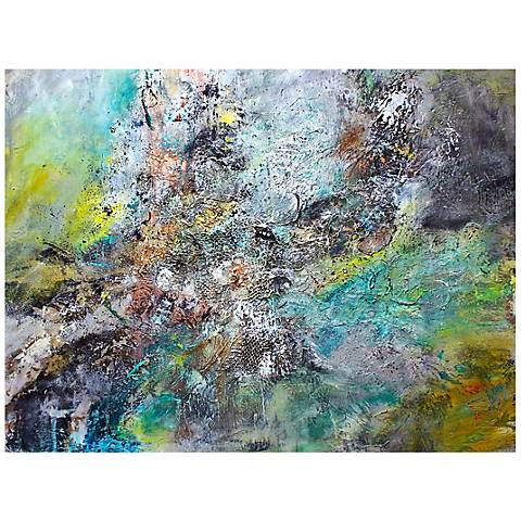 """Elegant Abstract Canvas 20"""" Wide Landscape Wall Art"""
