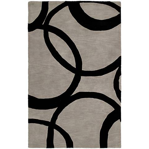 Kaleen Astronomy 3401-68 Gamma Graphite Wool Area Rug