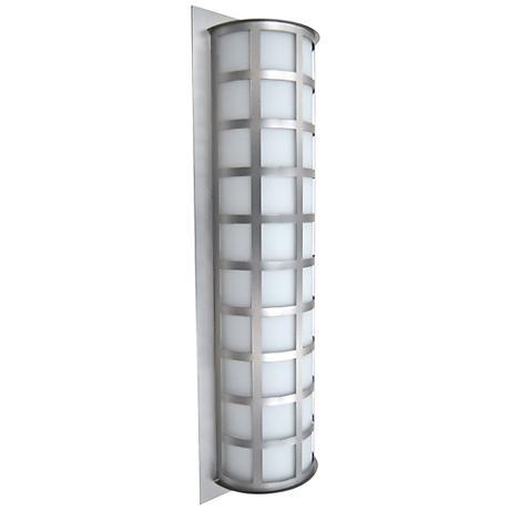 "Besa Scala 28"" High Brushed Aluminum Outdoor Wall Light"