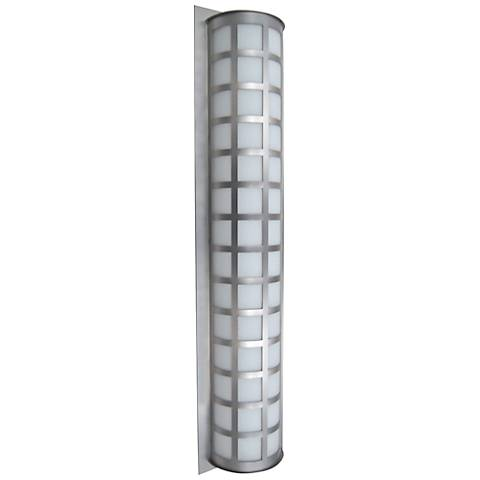 "Besa Scala 40"" High Brushed Aluminum Outdoor Wall Light"