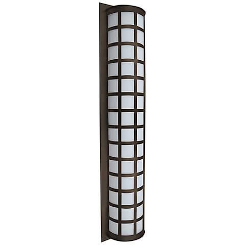 """Besa Scala 40"""" High Bronze Outdoor Wall Light"""