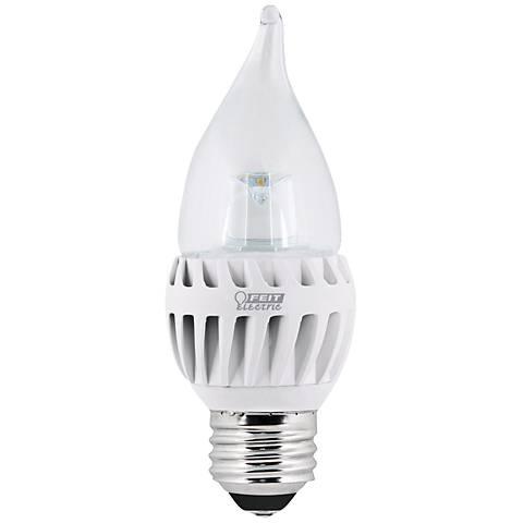 LED 7  Watts  Medium Base Soft White Flame Tip Bulb