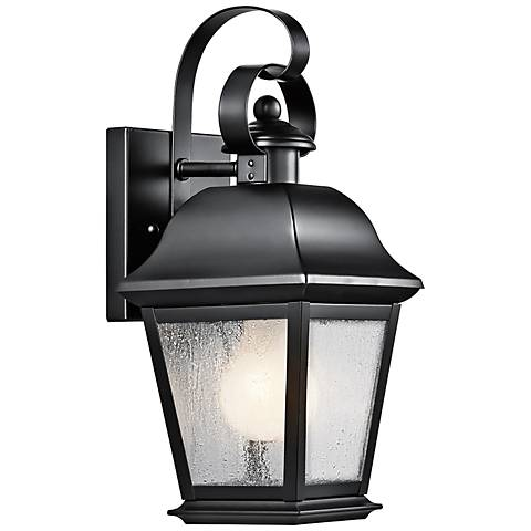 "Kichler Mt. Vernon 12 1/2"" High Black Outdoor Wall Light"