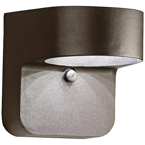 "Kichler Brandt 5 1/2"" High Bronze Outdoor LED Wall Light"