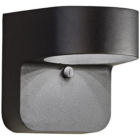 "Kichler Brandt 5 1/2"" High Black Outdoor LED Wall Light"