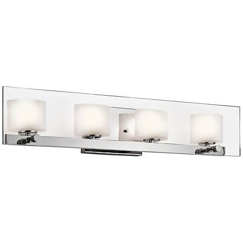 """Kichler Como 27 3/4"""" Wide Polished Chrome Bath Light"""