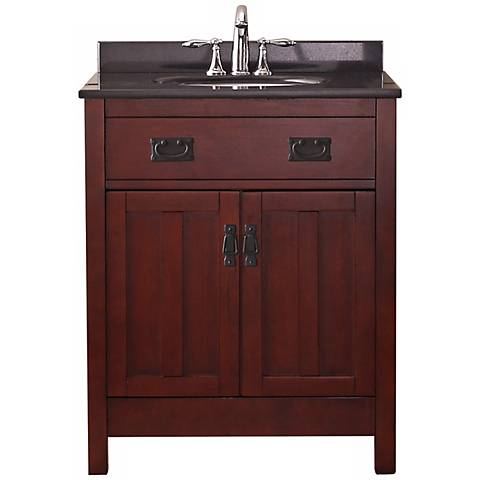 Cain Contemporary Dark Walnut Bathroom Vanity