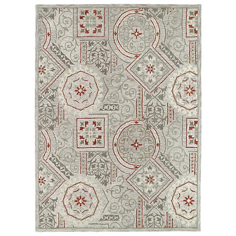 Kaleen Brooklyn 5302-73 Xander Pewter Wool Area Rug