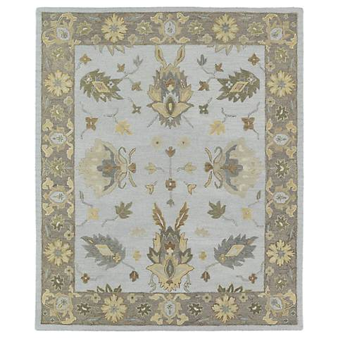 Kaleen Brooklyn 5303-77 Delaney Silver Wool Area Rug