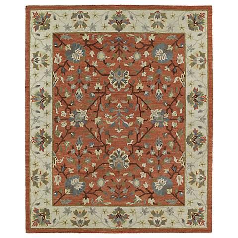 Kaleen Brooklyn 5305-06 Keaton Brick Wool Area Rug