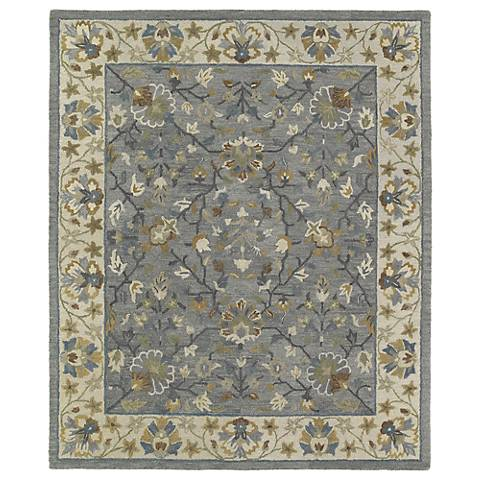 Kaleen Brooklyn 5305-73 Keaton Pewter Wool Area Rug
