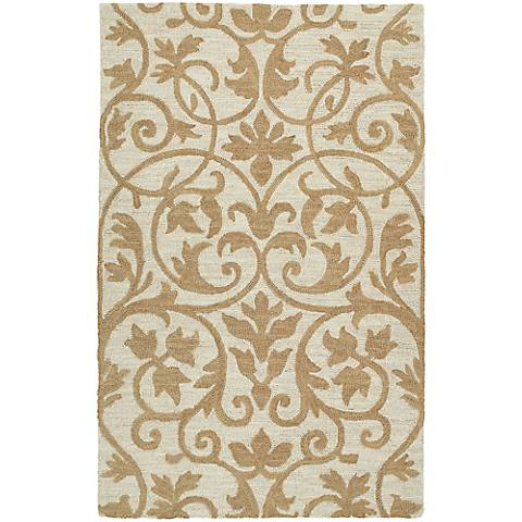 Kaleen Carriage 6101-49 Trellis Brown Wool Area Rug