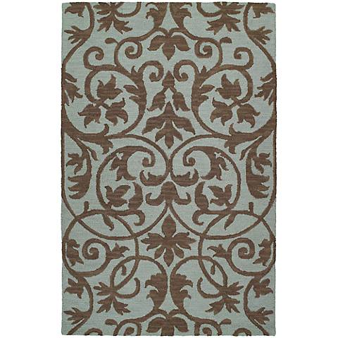 Kaleen Carriage 6101-56 Trellis Spa Wool Area Rug