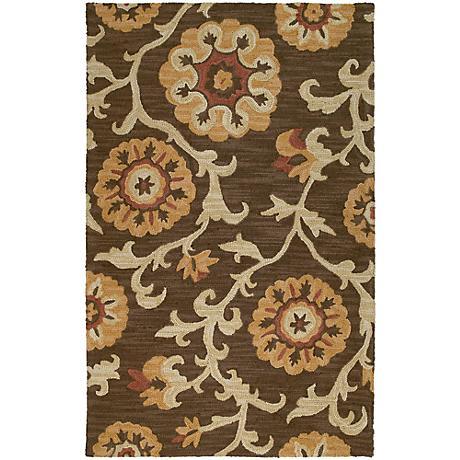 Kaleen Carriage 6102-49 Cornish Brown Wool Area Rug