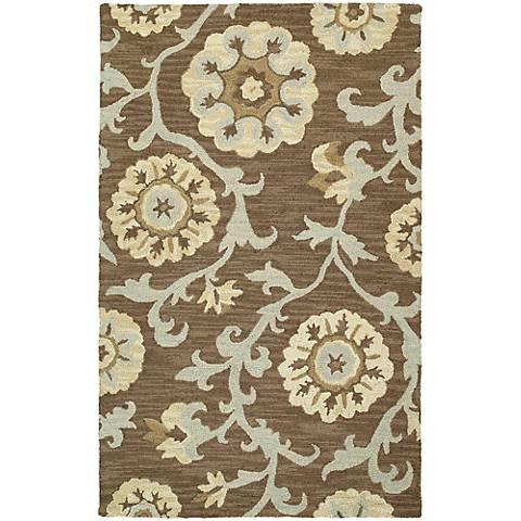 Kaleen Carriage 6102-68 Cornish Graphite Wool Area Rug