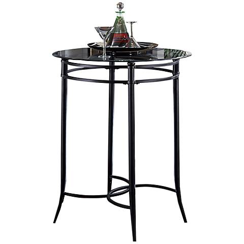 Hillsdale Mix and Match Black Metal Bistro Table