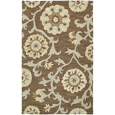 Kaleen Carriage 6102-68 Cornish Graphite Wool Area Rug