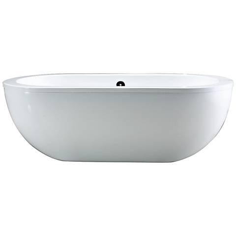 Serenity White Contemporary Acrylic Freestanding Bathtub