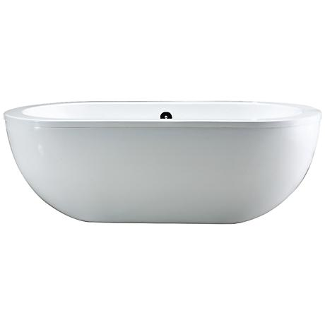 Serenity White Contemporary Acrylic Freestanding Bathtub