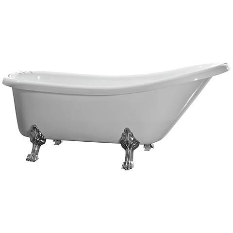 Clawfoot Modern White Acrylic Bathtub