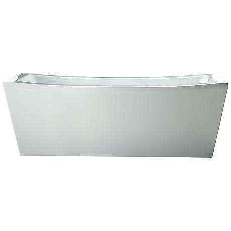 Ove Terra Contemporary White Acrylic Freestanding Bathtub