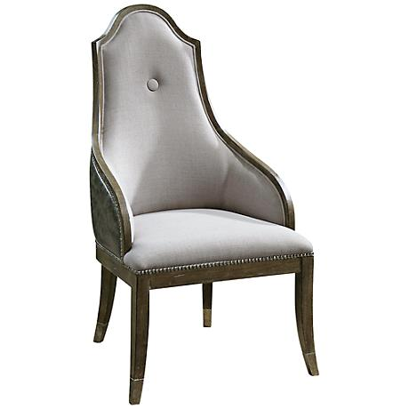 Uttermost Sylvana Gray Wash Accent Chair