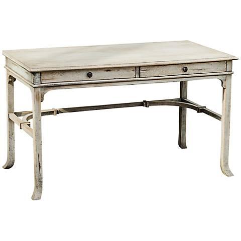 Uttermost Bridgely Aged White Writing Desk
