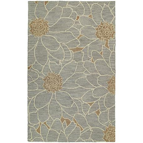 Kaleen Carriage 6104-17 City Park Blue Wool Area Rug