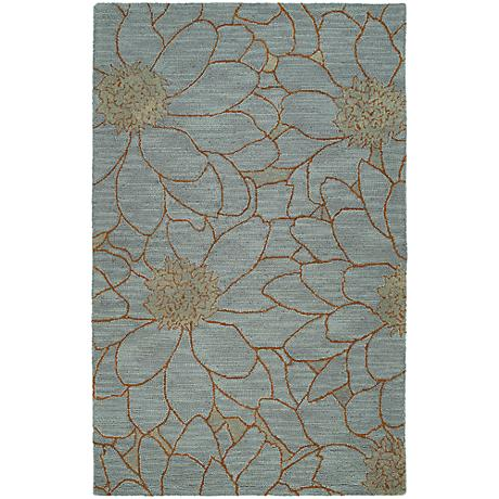 Kaleen Carriage 6104-66 City Park Azure Wool Area Rug