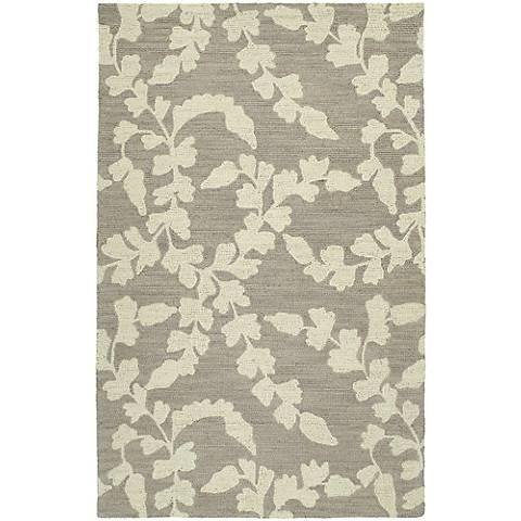 Kaleen Carriage 6105-68 Lauren Graphite Wool Area Rug