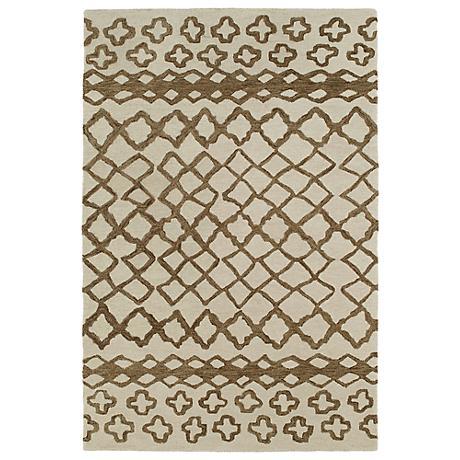 Kaleen Casablanca CAS01-49 Brown Wool Area Rug