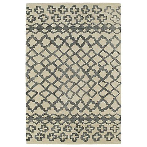 Kaleen Casablanca CAS01-75 Grey Wool Area Rug