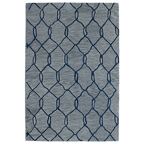 Kaleen Casablanca CAS02-17 Blue Wool Area Rug