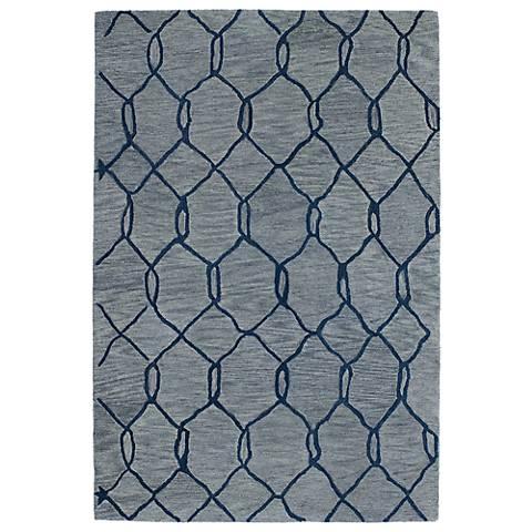 Kaleen Casablanca CAS02-17 Blue Wool Area Rug