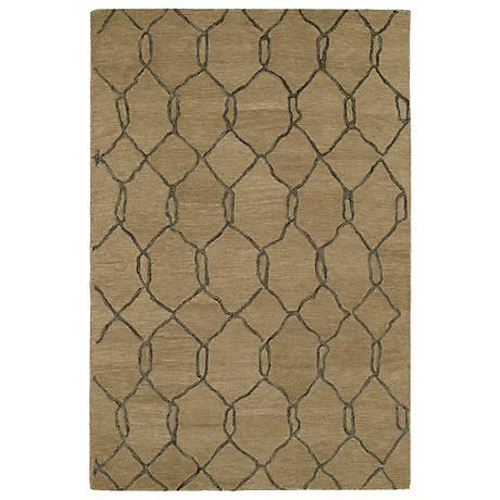 Kaleen Casablanca CAS02-82 Light Brown Wool Area Rug