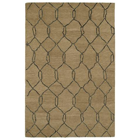 Kaleen Casablanca CAS02-82 Light Brown Wool Area Rug