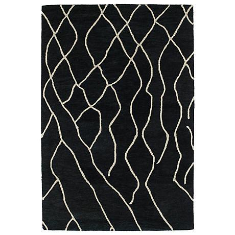Kaleen Casablanca CAS03-38 Charcoal Wool Area Rug