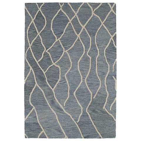 Kaleen Casablanca CAS03-75 Grey Wool Area Rug