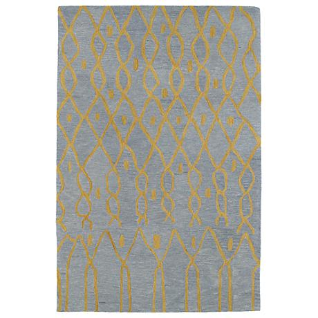 Kaleen Casablanca CAS06-79 Light Blue Wool Area Rug
