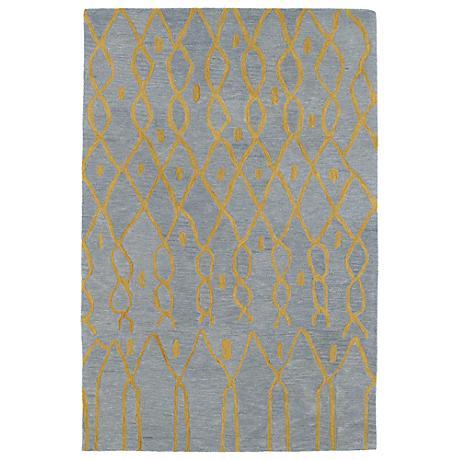 Kaleen Casablanca CAS06-79 Light Blue Wool Area Rug