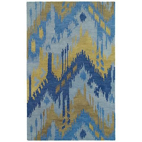 Kaleen Casual 5054-17 Castaway Blue Wool Area Rug
